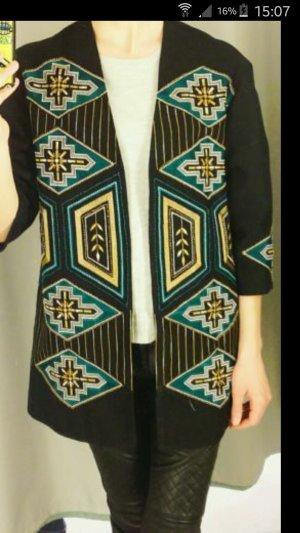 H&M Kimono Cardigan Stickerei Perlen Neu