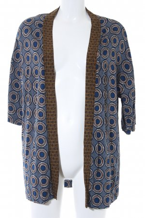 H&M Kimono dark blue abstract pattern