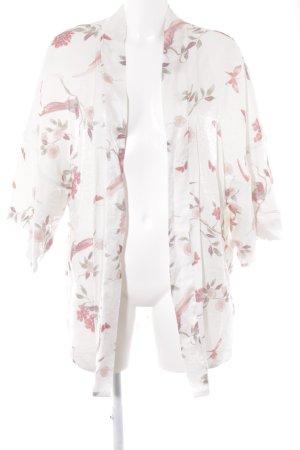 H&M Kimono florales Muster Glanz-Optik