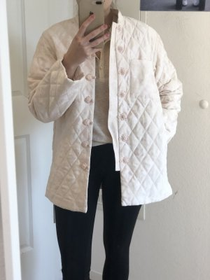 H&M Quilted Jacket white-rose-gold-coloured