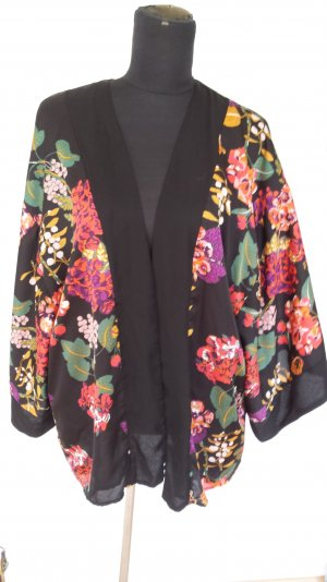 H&M Kimono Jacke Weste Blumen Bunt Limeted Edition Conscious Collection gr M L