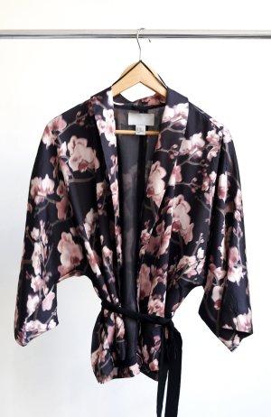 H&M Blusa tipo kimono multicolor Poliéster