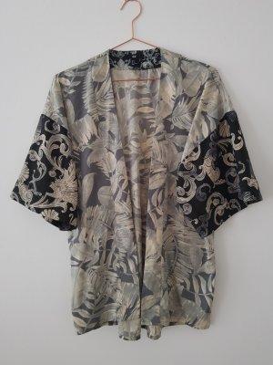 h&m Kimono S/M/38 Blätter Jungle Print Jacke Blazer oversize monki