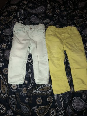 H&M Treggings yellow-baby blue