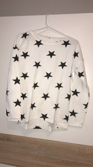 H&M Divided Sweat Shirt white-black