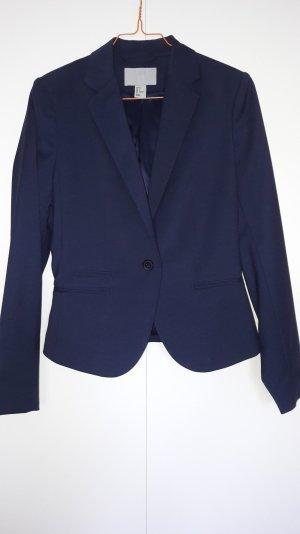 H&M klassischer Business Blazer dunkelblau Gr. 36