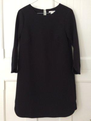 H&M Kleid 3/4 Arm schwarz monochrom