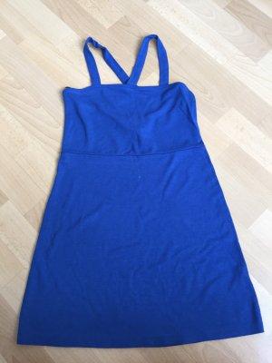 Vestido strapless azul