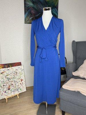 H&M Robe portefeuille bleu