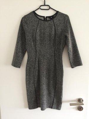 H&M Robe crayon gris-noir