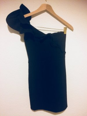 H&M One Shoulder Dress black synthetic