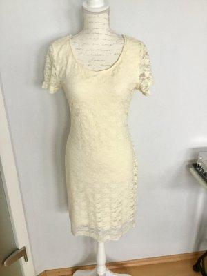 H&M Kleid aus Spitze in Creme Größe M