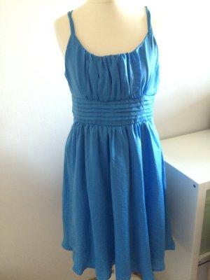 H&M Kleid blau Party Sommer Frühling Gr 38 M 40 L neu mit Etikett