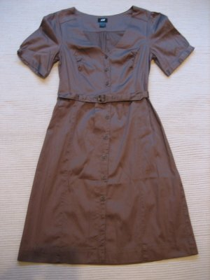 h&M kleid blusenkleid beige neu gr. xs 34
