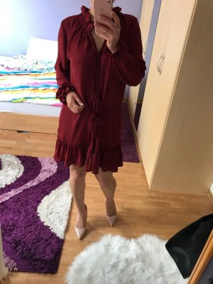 H&M Flounce Dress carmine