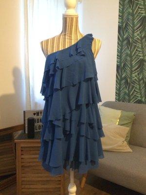 H&M One Shoulder Dress blue