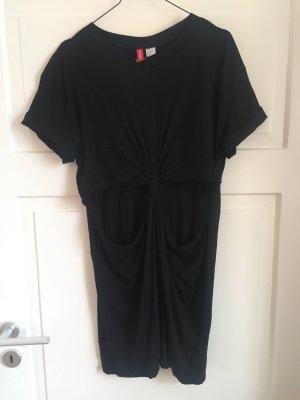 H&M Kleid Cut Out Cutout Oberteil Shirt Top Tshirt Dress oversized schwarz