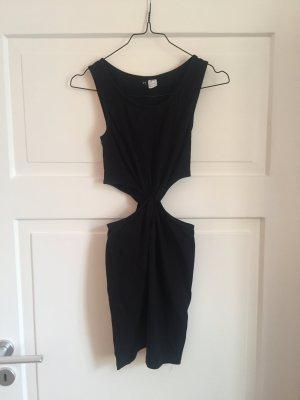 H&M Kleid Cut Out Cutout Oberteil Shirt Top Tshirt Dress schwarz