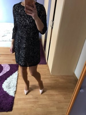 H&M Lace Dress black-nude