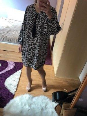 H&M Vestido de camuflaje negro-nude