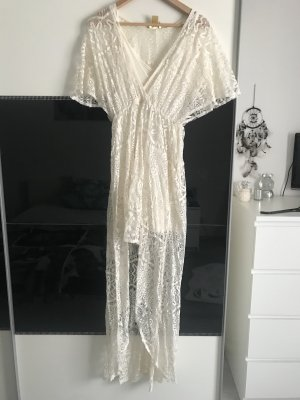 H&M Premium Robe Hippie blanc-crème