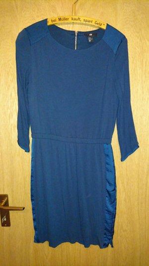 H&M Kleid dunkelblau 38