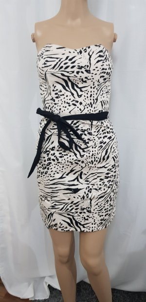 H&M Off-The-Shoulder Dress black-nude