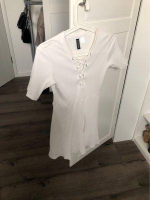 H&M Shirt Dress white