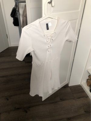 H&M T-shirt jurk wit