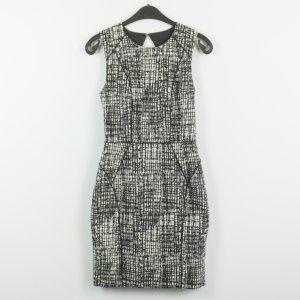 H&M Kleid Gr. 36 schwarz/weiß gemustert (19/02/150)