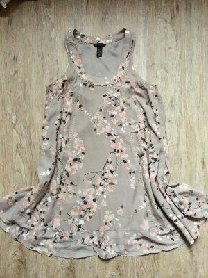 H&M Vestido largo gris claro-rosa