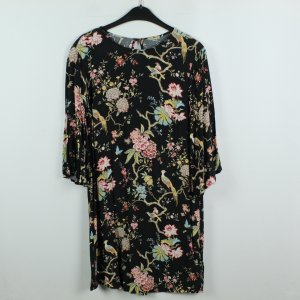 H&M Premium Vestido tipo blusón negro Viscosa