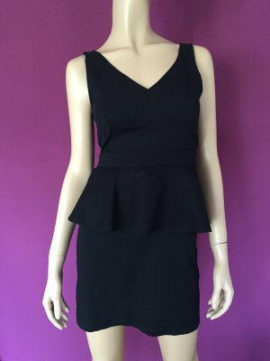 H&M Kleid Gr. 40 Schwarz schwarzes Schößchen Schößchenkleid kurz kurzes