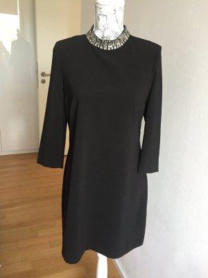 H&M Kleid Gr 42/L schwarz Strasssteine