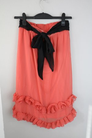 H&M Kleid Gr S/M Ballonkleid Trägerkleid A-Linien Kleid Gr 36 Lachs