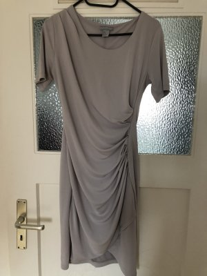 H&M Stretch Dress silver-colored polyester
