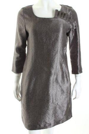 H&M Kleid graugrün Metallic-Optik