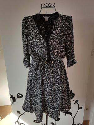 H&M Robe chemise blanc-noir