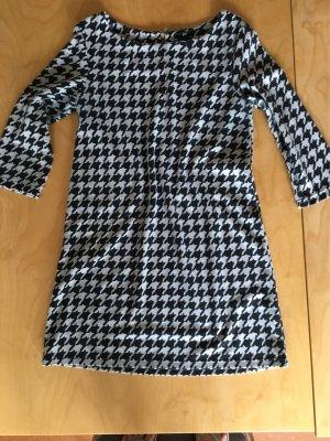 H&M Kleid Hahnentritt grau/schwarz  weiß Gr. S