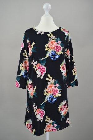 H&M Kleid im Blumenmuster mehrfarbig Größe XS