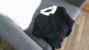 H&M Kleid im Chanel-Stil, schwarz und weiß mit Spitze und Kragen