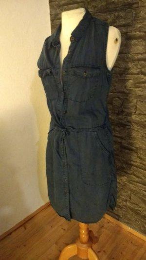 H&M Kleid  in blau ärmellos