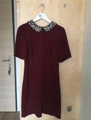 H&M Kleid in Magenta mit Strass mit Etikett
