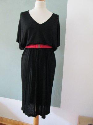 H&M Kleid jersey Fledermausärmel Kaftan mit Seidengürtel