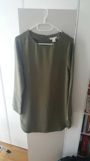 H&M Kleid, khaki, Gr. 38, NEU
