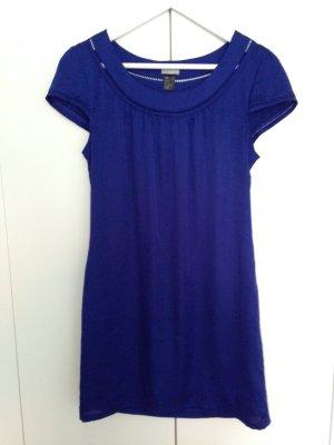 H&M Kleid, kurzer Arm, mini, blau, Gr. 34