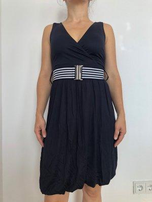 H&M Kleid Matrosenlook Gr. XS 34 dunkelblau wie NEU