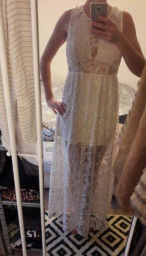 H&M Kleid Maxikleid Spitze Lace Seethrough Hippie Boho M