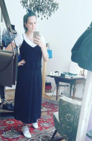 H&M Kleid Midi Midikleid Glanz Plissee Plisseefalten
