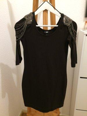 H&M Kleid Mini Shirt dunkelgrau Größe S